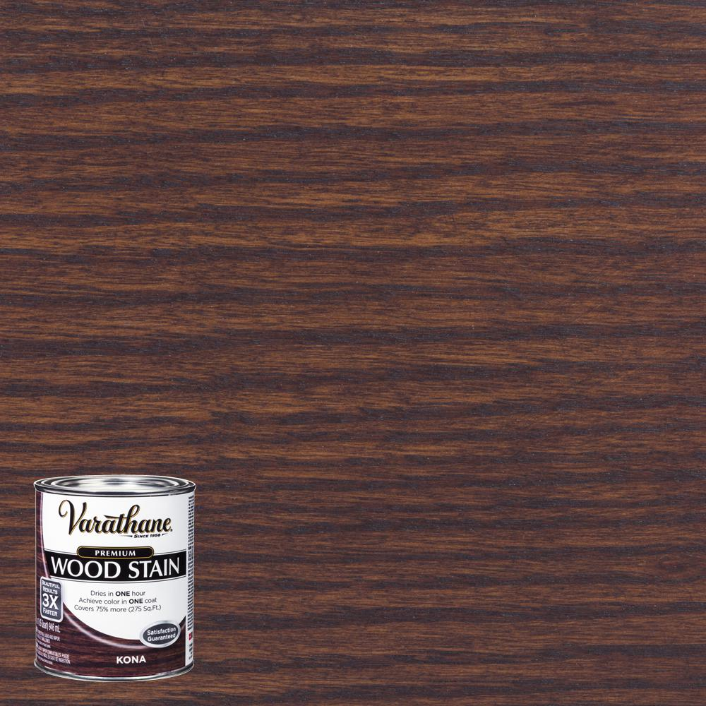 Varathane 1 qt kona premium fast dry interior wood stain - Interior wood stain colors home depot ...