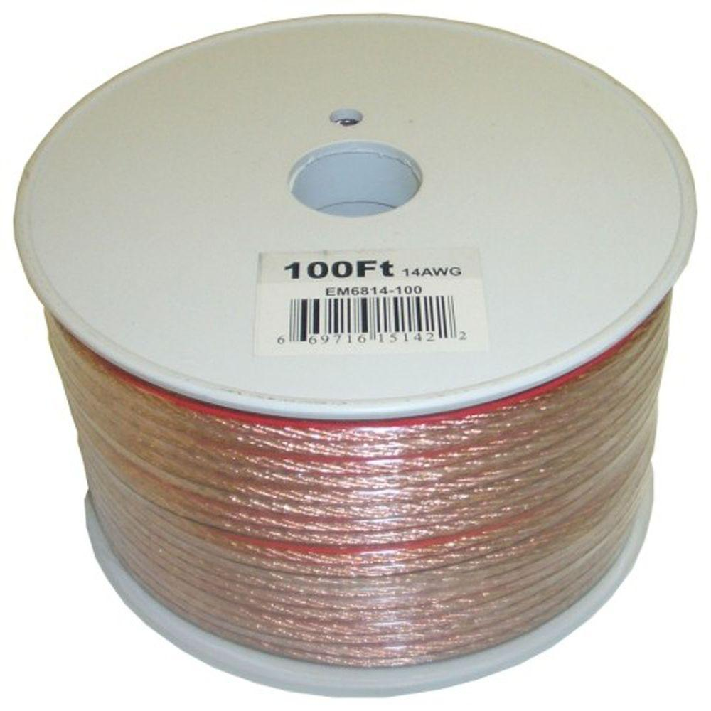 Electronic master 100 ft 14 2 stranded speaker wire em6814100 14 2 stranded speaker wire greentooth