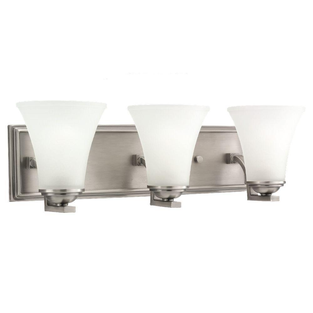 Somerton 3-Light Antique Brushed Nickel Vanity Light