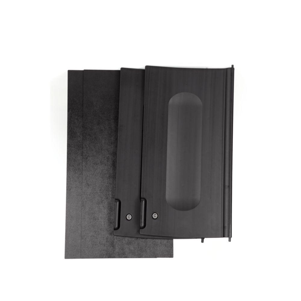 Rubbermaid commercial products executive series black for Black cabinet with doors