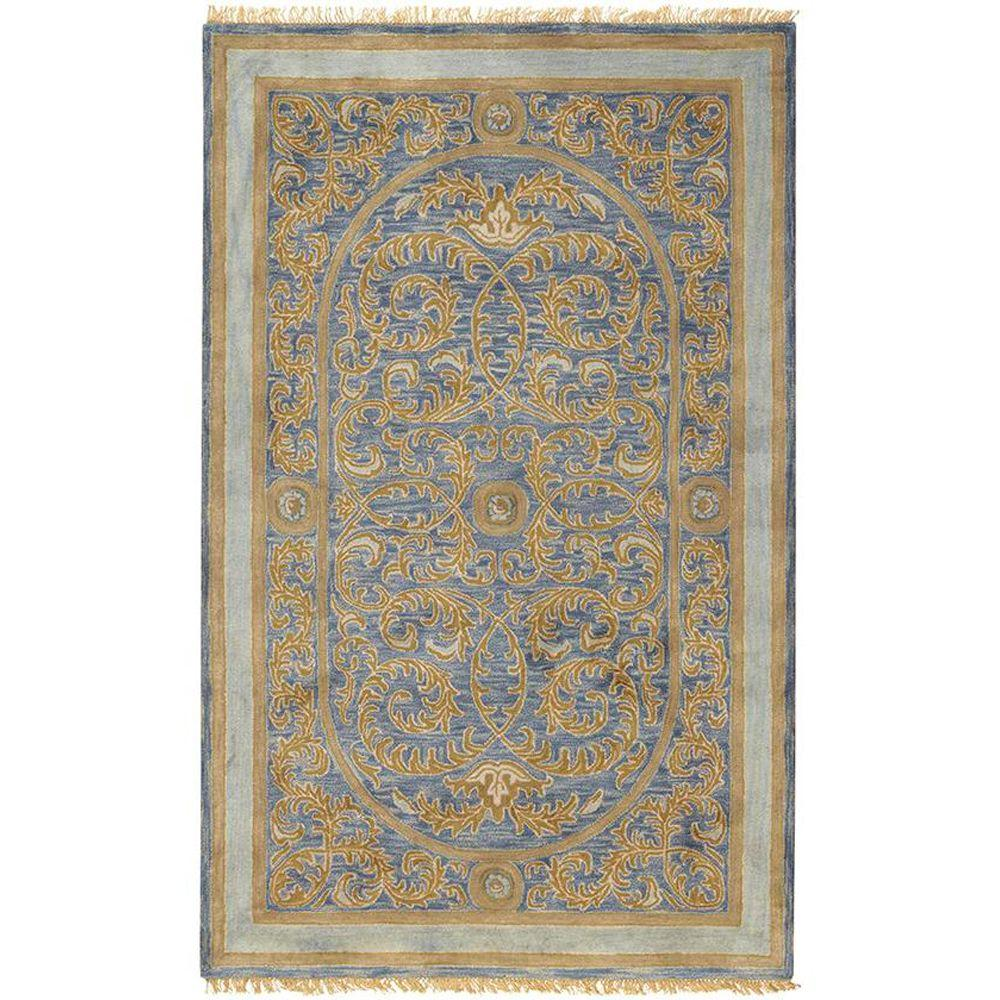 Home decorators collection colette blue 2 ft x 3 ft area for Home decorators rugs blue