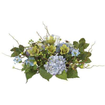 Hydrangea Candelabrum Silk Flower Arrangement