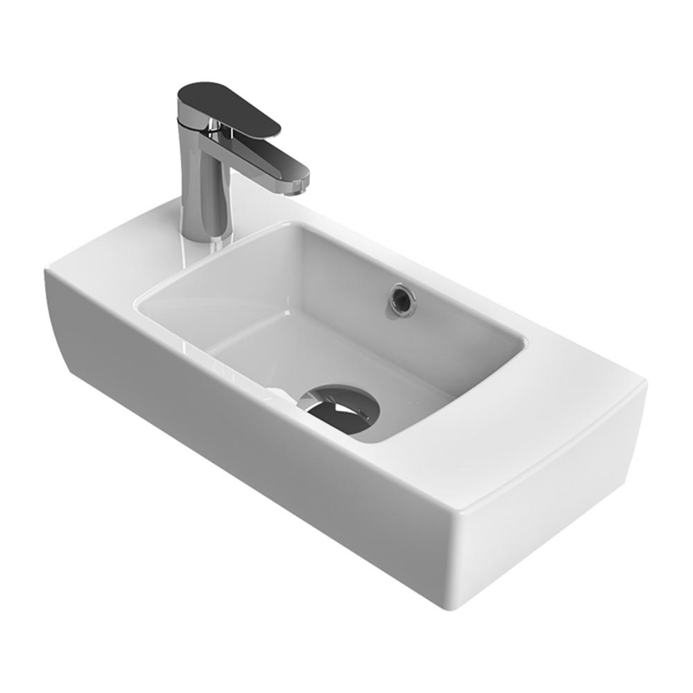 Nameeks City Wall Mounted Bathroom Sink In White Cerastyle 001600 U
