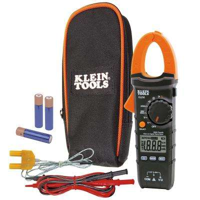 400 Amp AC Auto-Ranging Digital Clamp Meter with Temp