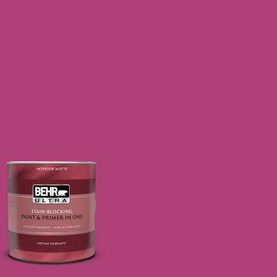 1 qt. #100B-7 Hot Pink Matte Interior Paint and Primer in One