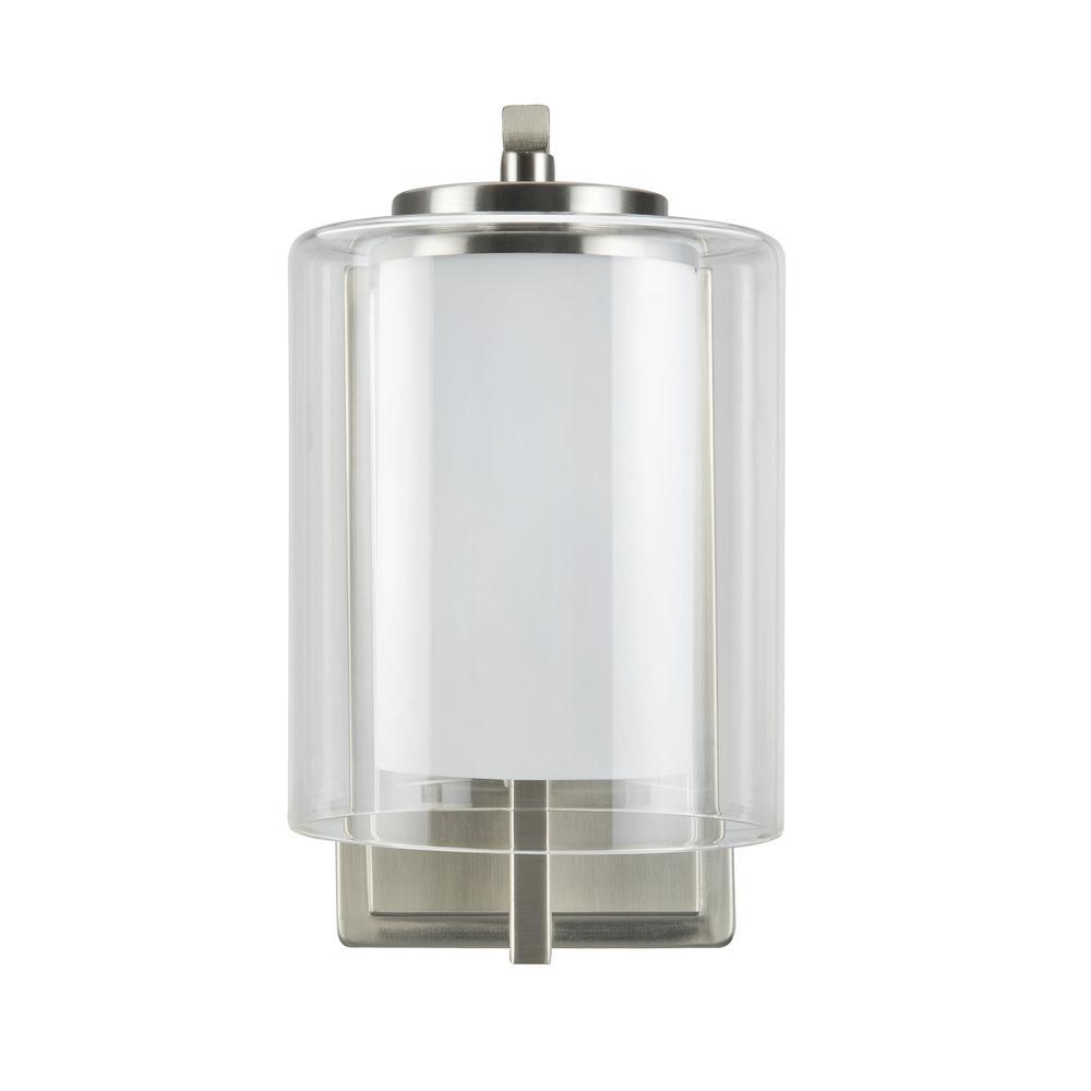 Tech Lighting Aspen 36: Aspen Creative Corporation 1-Light Satin Nickel Vanity
