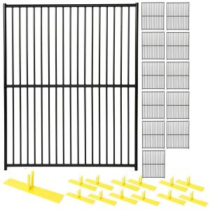 Perimeter Patrol 6 ft. x 60 ft. 12-Panel Black Powder-Coated European Style Welded Wire Temporary Fencing by Perimeter Patrol