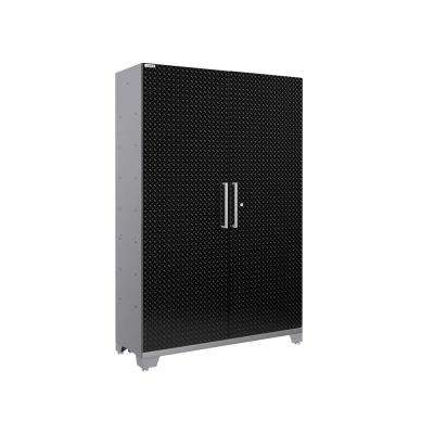 Performance Diamond Plate 2.0 72 in. H x 48 in. W x 18 in. D Steel Garage Freestanding Extra-Wide Locker Cabinet Black