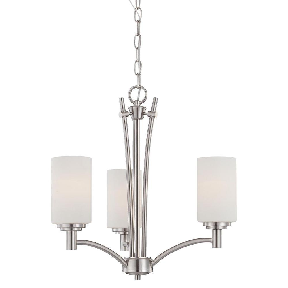 Thomas Lighting Pittman 3 Light Brushed Nickel Chandelier