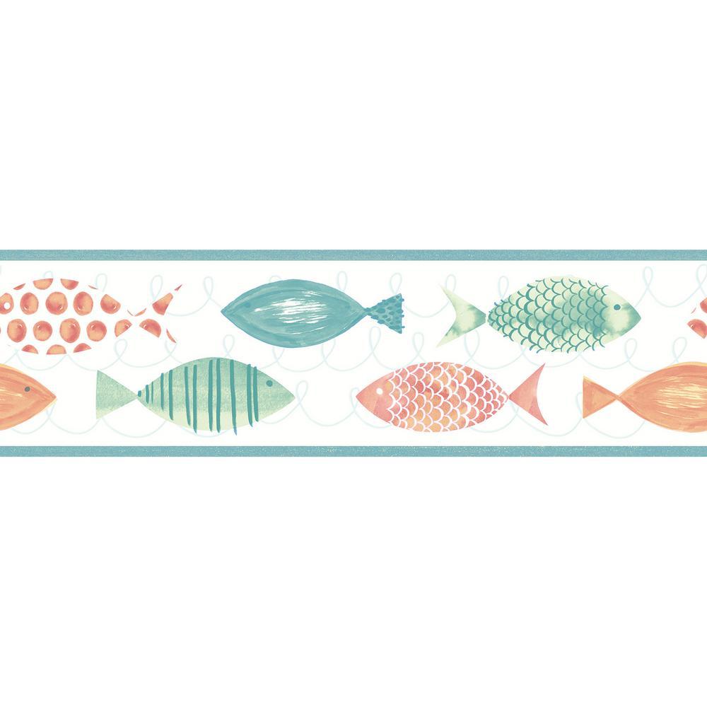 Key West Fish Wallpaper Border
