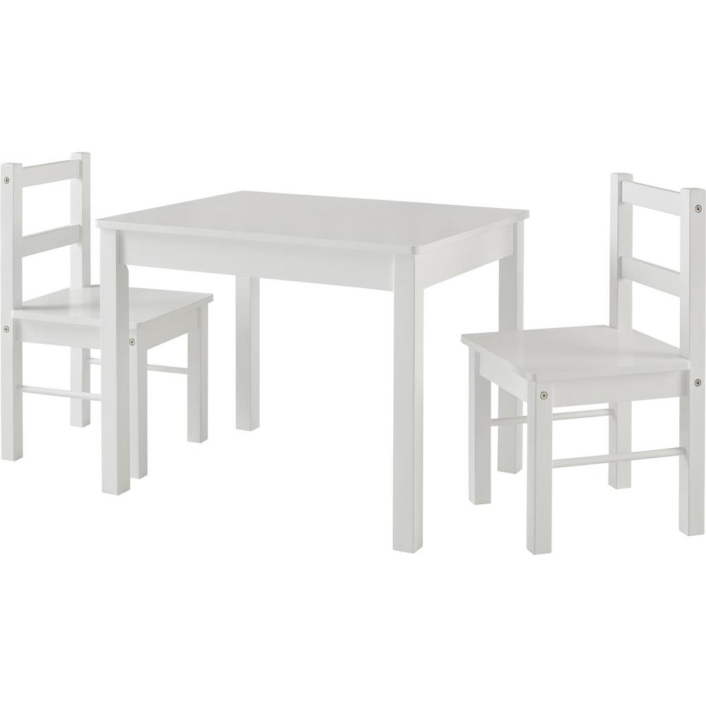 Ameriwood Home Shelby White Table Chairs Set Image