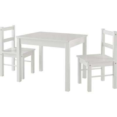 Shelby White Kid's Table and Chairs Set