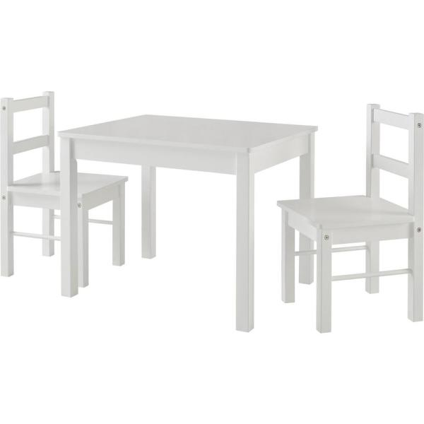 Ameriwood Home Shelby White Kid's Table and Chairs Set