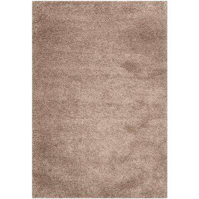 California Shag Taupe 9 ft. 6 in. x 13 ft. Area Rug
