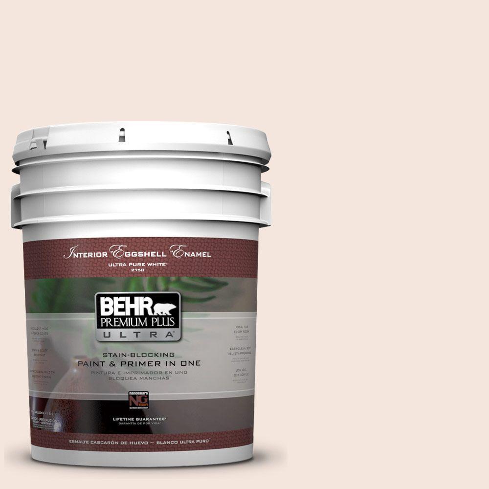 BEHR Premium Plus Ultra 5-gal. #W-D-120 Bleached Shell Eggshell Enamel Interior Paint
