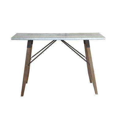 Metal Table with Wood Legs