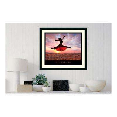 30.25 in. W x 27.13 in. H Ritmo de vida' Printed Framed Wall Art