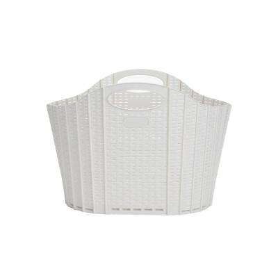 Ivory Collapsible Plastic Laundry Basket 38 Liter