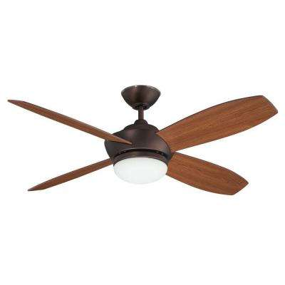 Garvin 52 in. Oil Brushed Bronze Ceiling Fan with Light Kit and 4 Blades