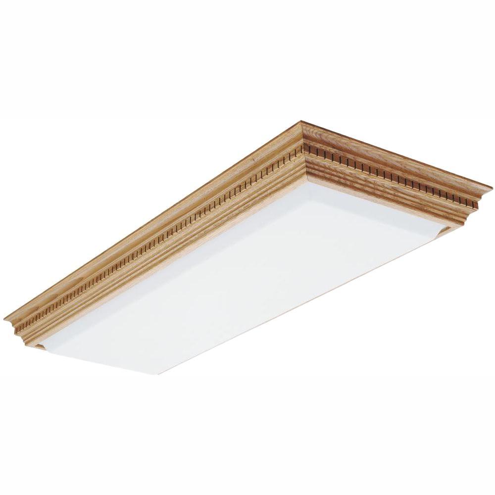 4 Light Fluorescent Ceiling Fixture