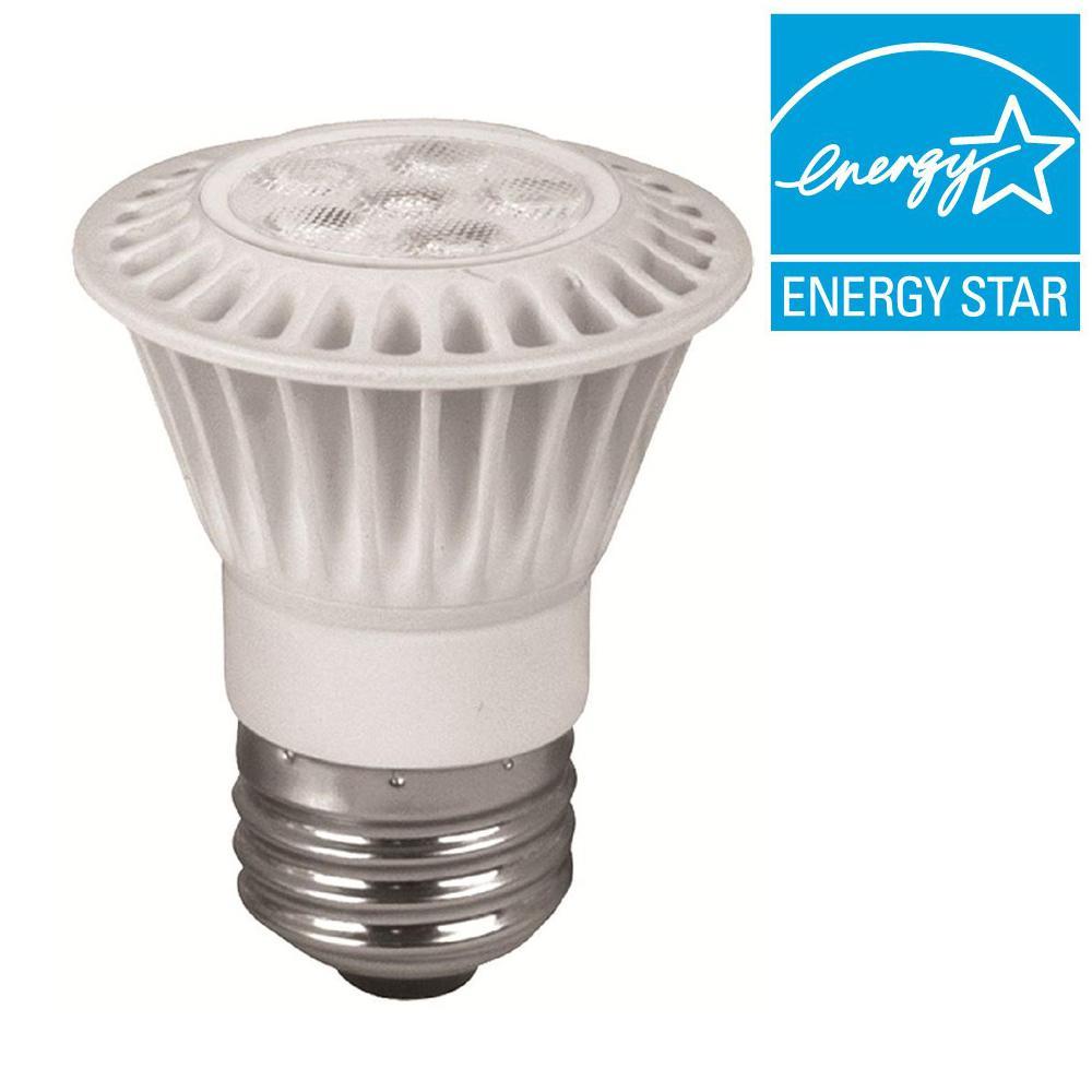 TCP 50W Equivalent Bright White (3000K) PAR16 Dimmable LED Flood Light Bulb