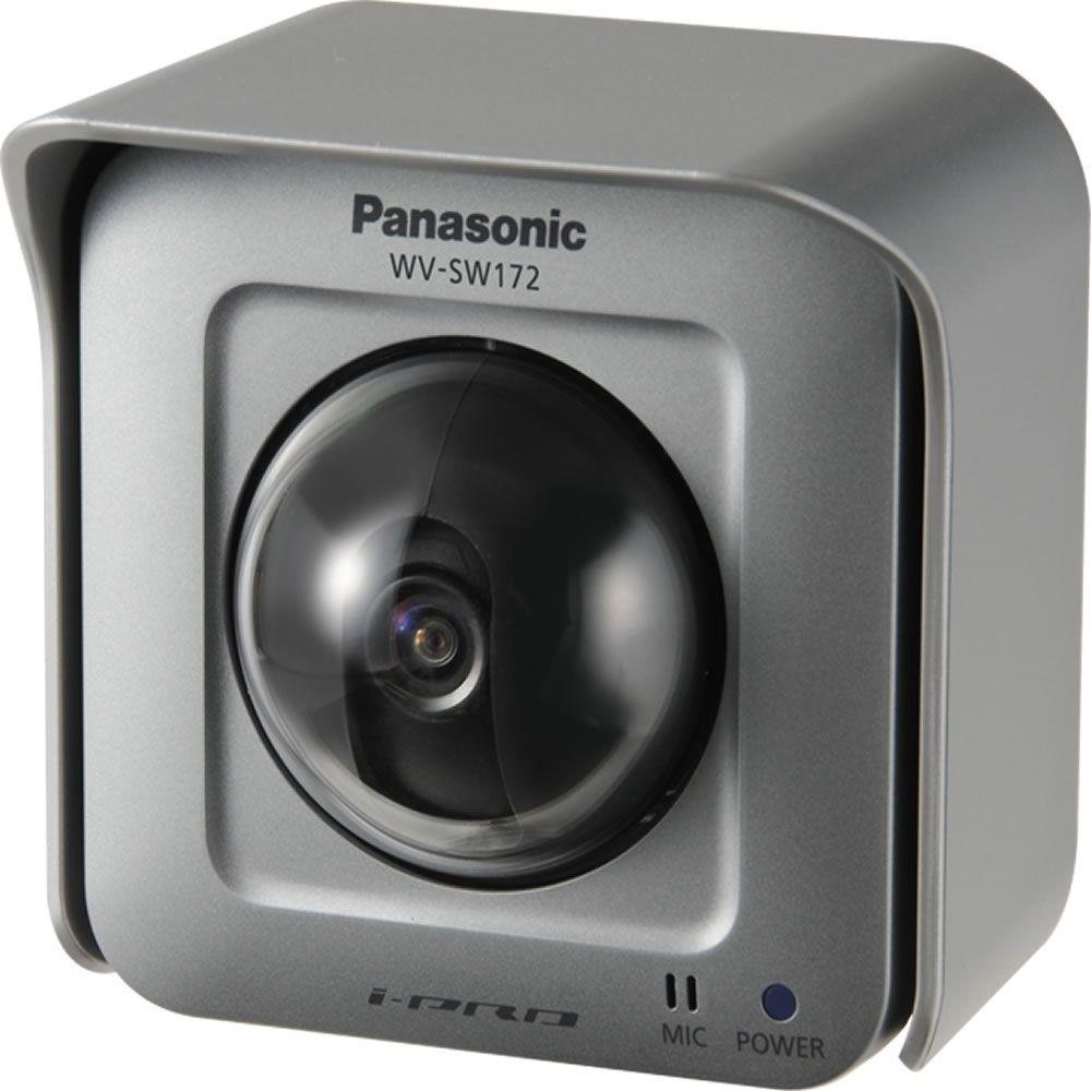 Panasonic Wired Outdoor 600 TVL Pan-Tilting POE Network Security Camera with 8X Digital Zoom