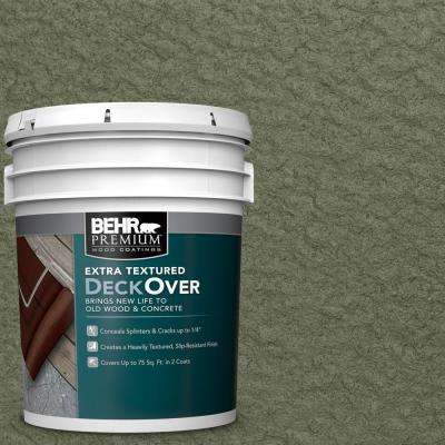 5 gal. #SC-138 Sagebrush Green Extra Textured Solid Color Exterior Wood and Concrete Coating
