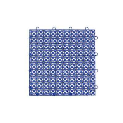 Armadillo Tile Cobalt Blue 12 in. x 12 in. Polypropylene Interlocking Multipurpose Floor Tile (9-Pack)