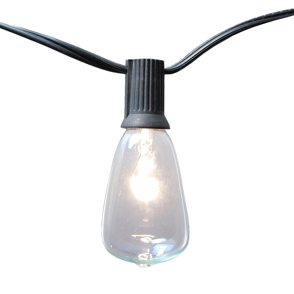 Light Edison Bulb String Lights in Clear (10-Pack)