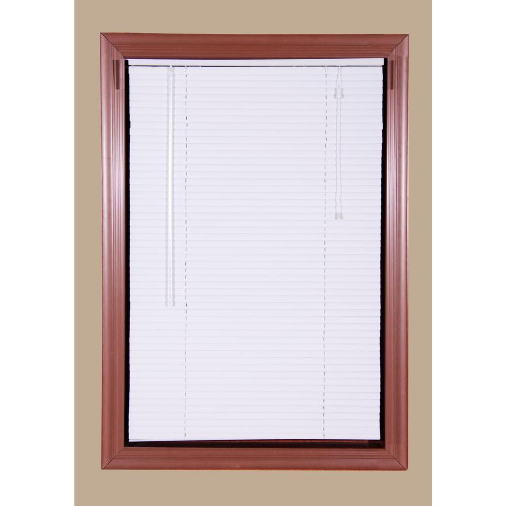 Bali Today White 1 in. Room Darkening Aluminum Mini Blind - 39.5 in. W x 64 in. L (Actual Size is 39 in. W x 64 in. L)
