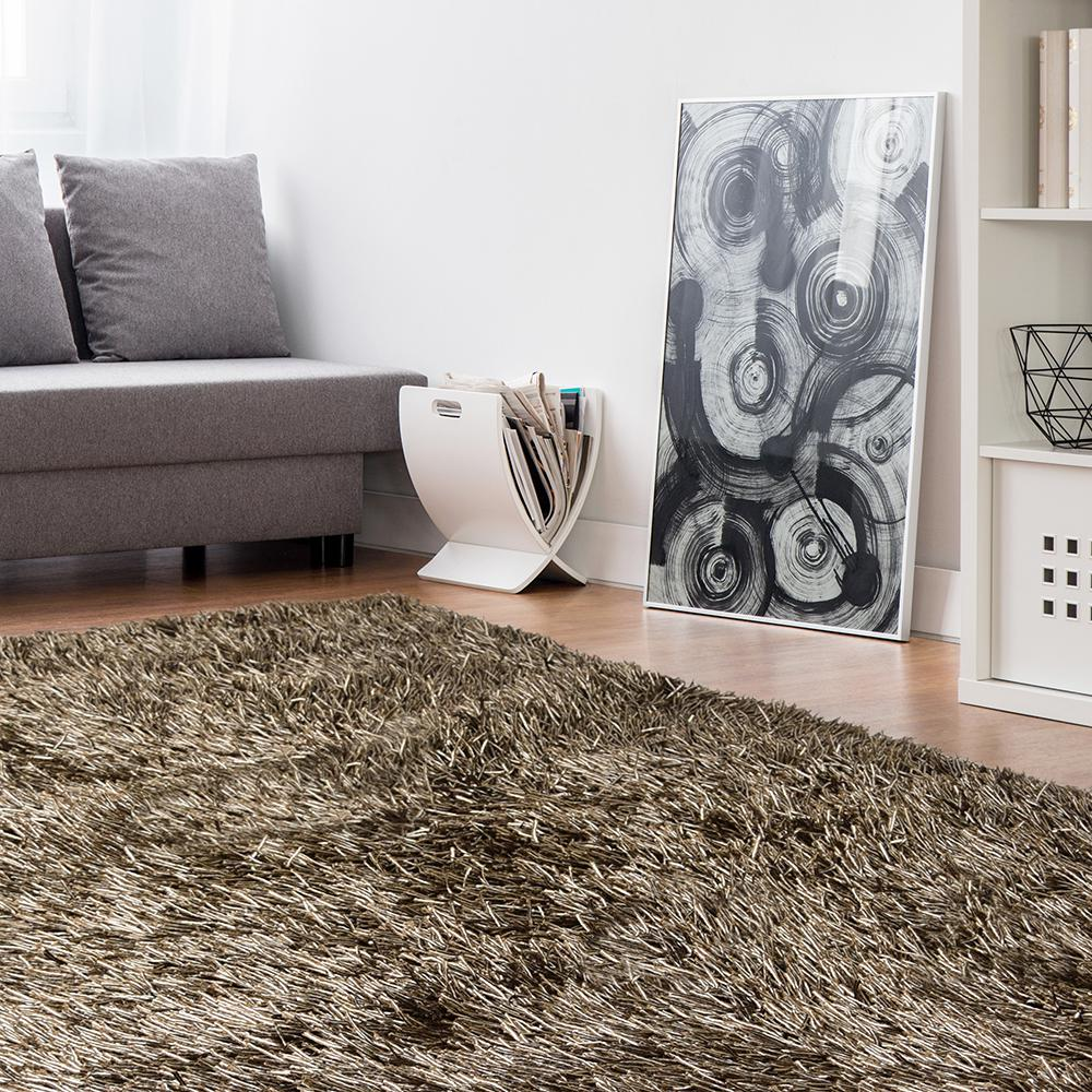Lanart Electric Ave Chocolate 8 ft. x 10 ft. Area Rug