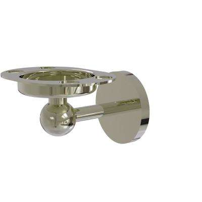 Skyline Collection Tumbler and Toothbrush Holder with Twist Accents in Polished Nickel
