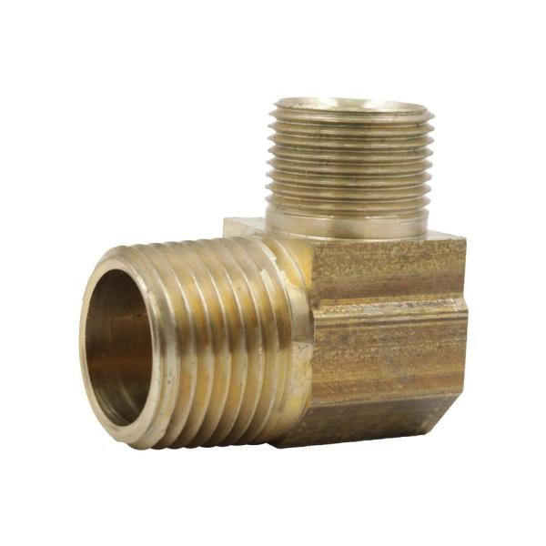 1/2 in. OD Compression x 1/2 in. MIP 90-Degree Brass Elbow Adapter Fitting