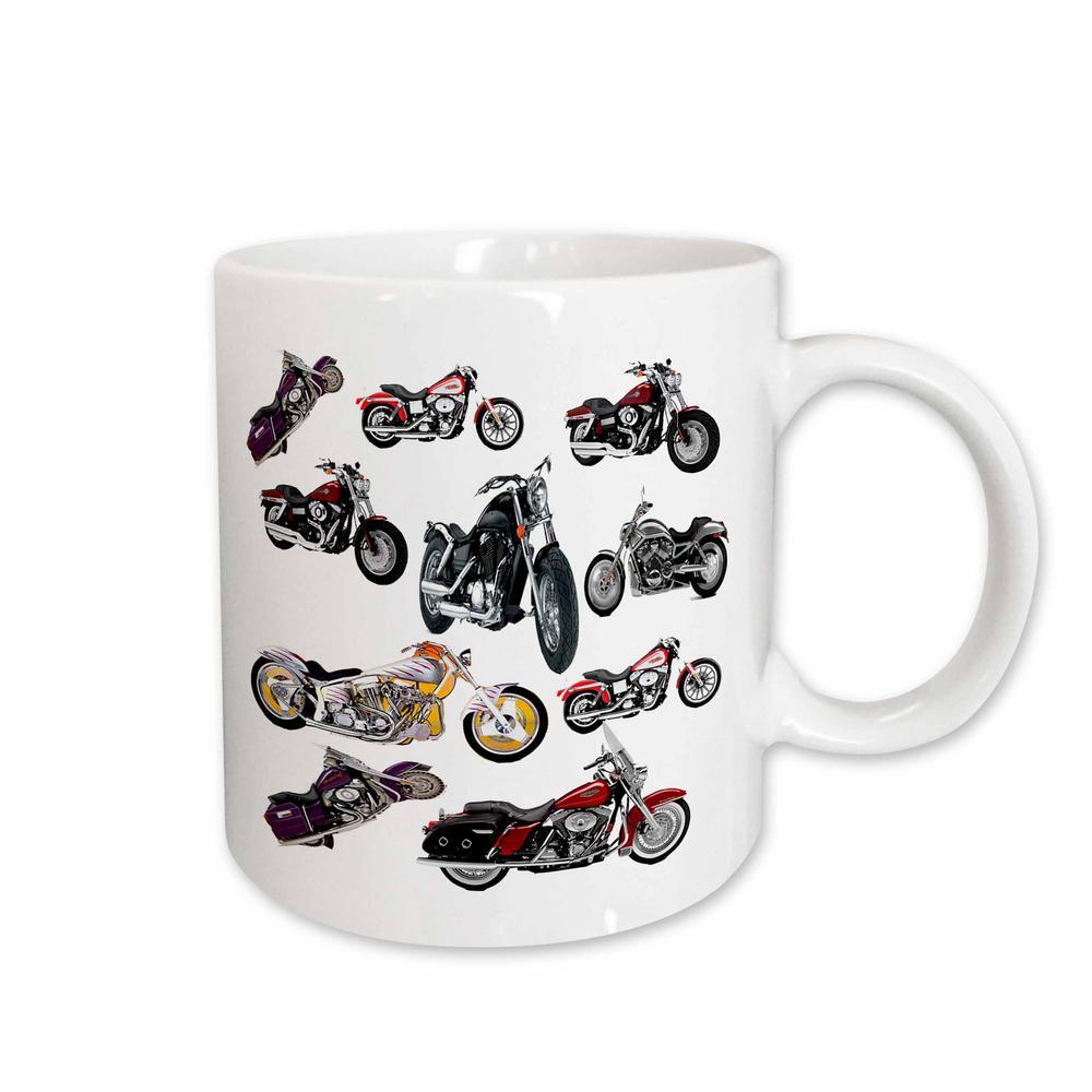 11 oz. White Ceramic Harley-Davidson Motorcycles Featured Mug