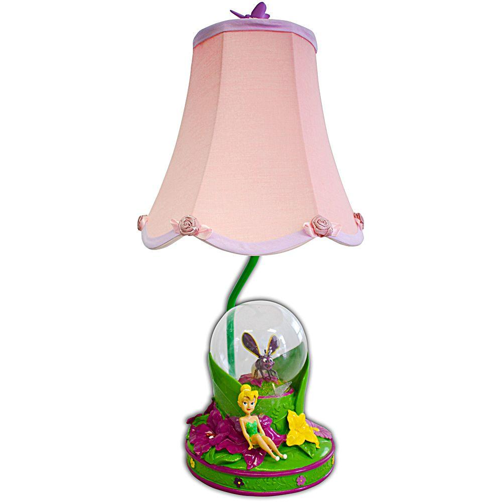 Disney 18 in. Fairies Pink Table Lamp with Decorative Shade-DISCONTINUED