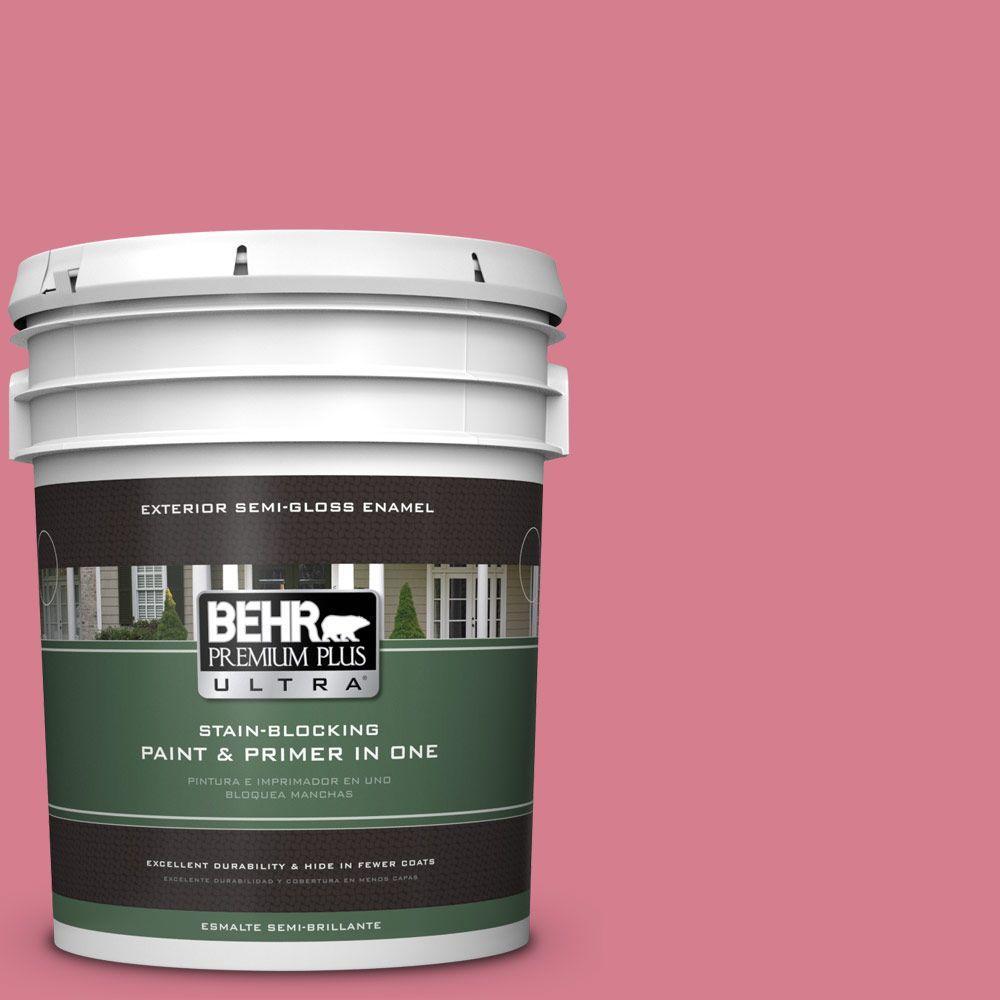 5-gal. #P140-4 I Pink I Can Semi-Gloss Enamel Exterior Paint