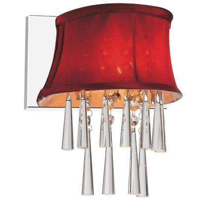 Audrey 1-Light Chrome Sconce