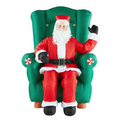 5.5 ft. Realistic Animated Inflatable Santa in High-Back Chair