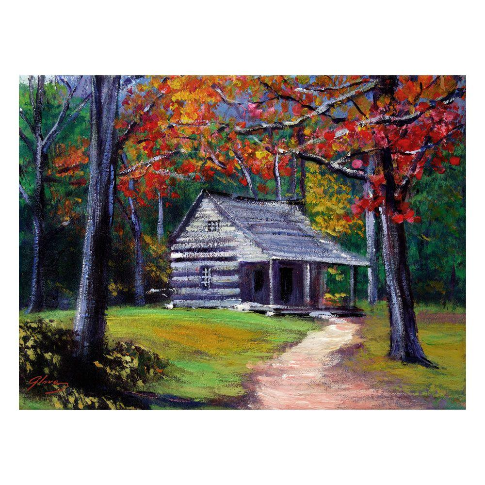 24 in. x 32 in. Old Cabin Canvas Art