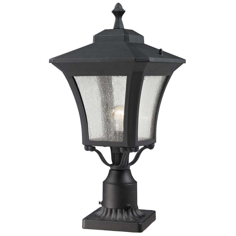 Lawrence 1-Light Outdoor Sand Black Incandescent Post Light