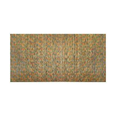 Ripple Vertical 96 in. x 48 in. Decorative Wall Panel in Copper Fantasy