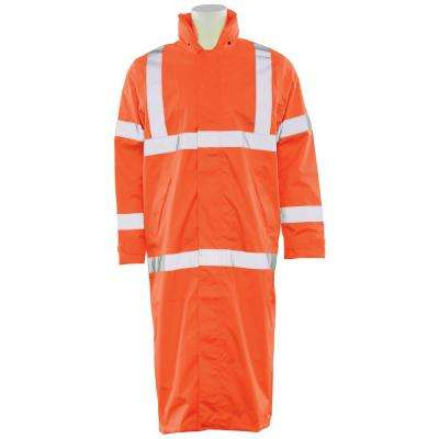 S163 MD HVO Poly Oxford Long Rain Coat