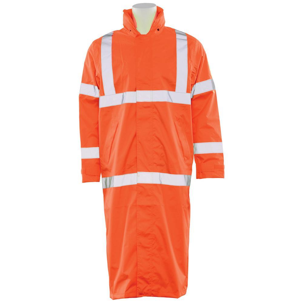 Ergonomics INC S163 4X HVO Poly Oxford Long Rain Coat, Si...