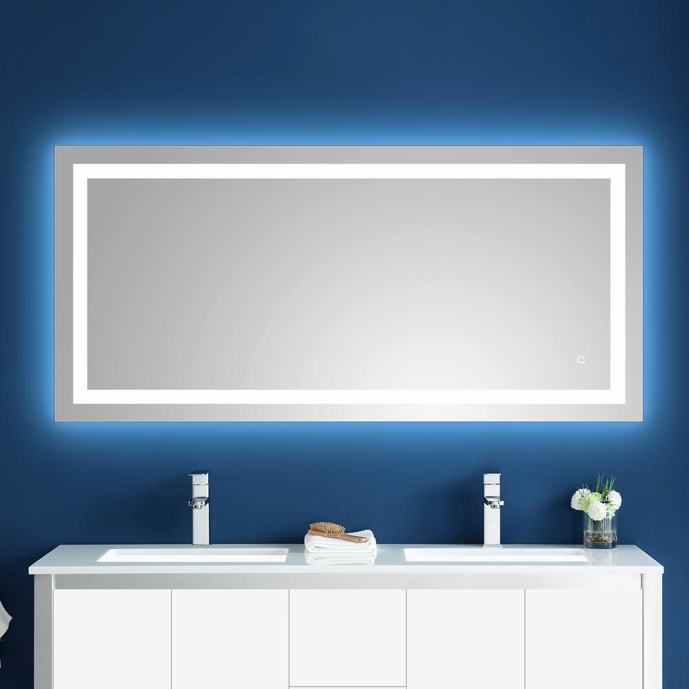 Atlas 60 in. x 27 in. LED Frameless Mirror