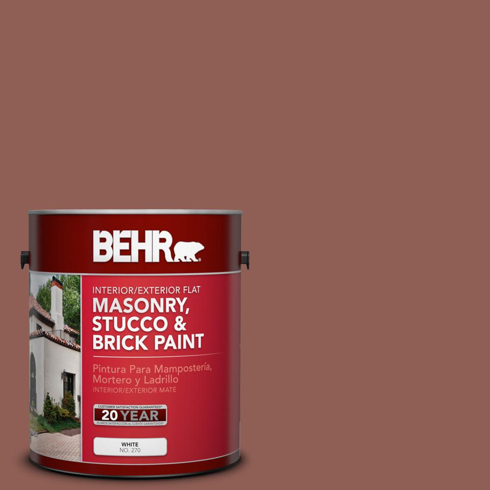 1 gal. #BXC-57 Raw Sienna Flat Interior/Exterior Masonry, Stucco and Brick