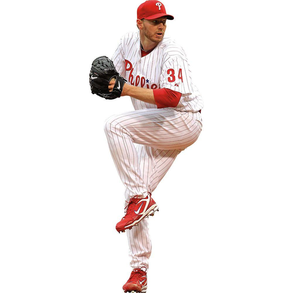 Fathead 32 in. x 13 in. Roy Halladay Wall Decal