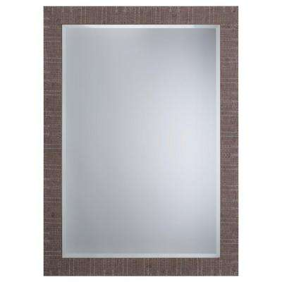 Mirror with Wood Frame Shallow Brown Texture