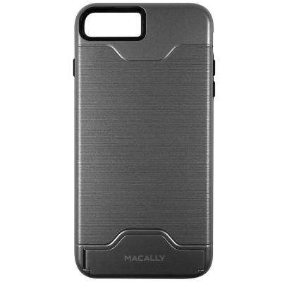Dual Layer Protective Case with Kickstand for iPhone 7, Gray