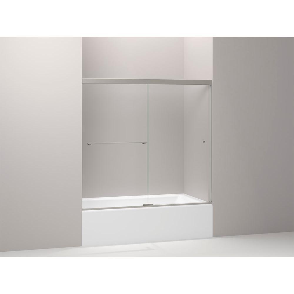 Kohler Revel 59 58 In X 55 12 In Frameless Sliding Bathdoor In