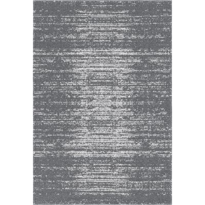 Unique Loom Decatur Static Gray 5 ft. 2 in. x 7 ft. 5 in. Area Rug, Dark Gray
